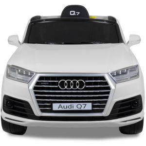 Audi Q7 kinderauto wit vooraanzicht zijspiegels voorlichten grill