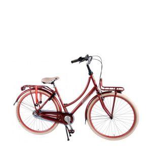 SALUTONI Eccellente bicicletta da città - 28 pollici - 50 centimetri - Bordeaux - assemblata al 95%