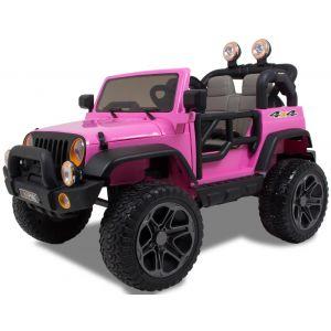 Jeep auto elettrica per 2 bambini rosa