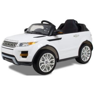 Kijana auto elettrica per bambini Rover bianca