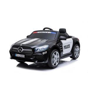 Mercedes auto elettrica per bambini della polizia SL500 nera