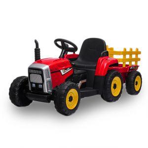 Kijana trattore elettrico per bambini con rimorchio rosso