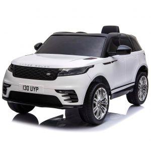 Land Rover auto elettrica per bambini Velar bianca