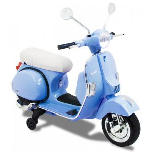 Vespa kinderscooter blauw zijaanzicht voorkant