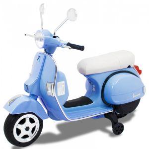 Vespa moto elettrica per bambini blu
