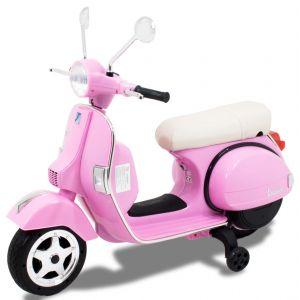Vespa scooter electtrica per bambini rosa