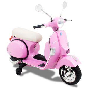 Vespa kinderscooter roze zijaanzicht