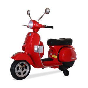 Vespa elektrische kinderscooter rood