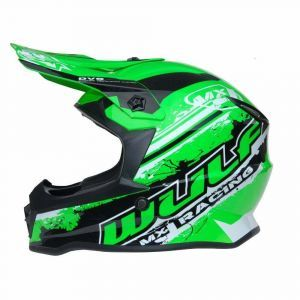 Wulfsport casco per bambini Junior Cub Off Road Pro - verde