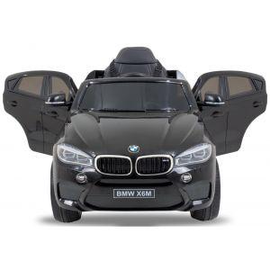 BMW X6 kinderauto zwart dashboard stuur startknop voorkant deuren open