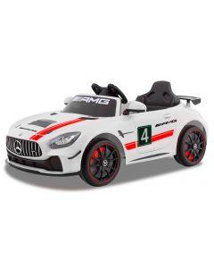 Mercedes auto elettrica per bambino GT4 bianco