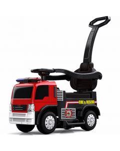 Kijana auto da corsa per camion dei pompieri
