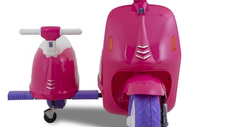 Scooter elettrico per bambini Vespa con sidecar rosa